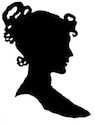 ladyis head elaborate hairstyle