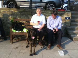 Kevin Morris and his Guidedog Trigger