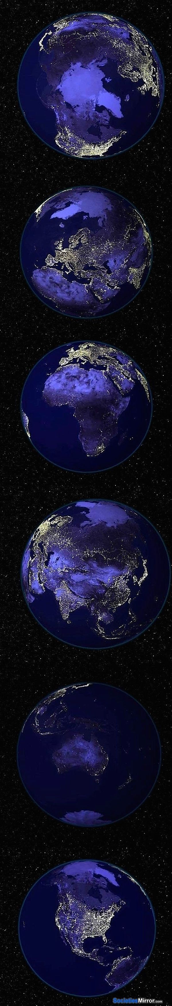 planet earth from space at night - photo #14