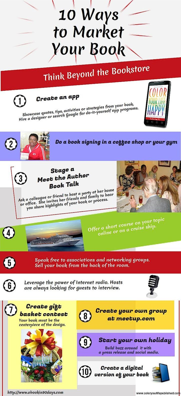 10 ways to market your book