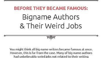 jobs for fantasy characters infographic chris the story unusual jobs of famous writers infographic