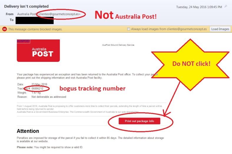 Australia Post scam
