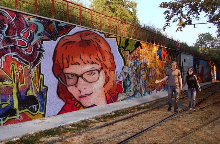 Comics Mural Teagan