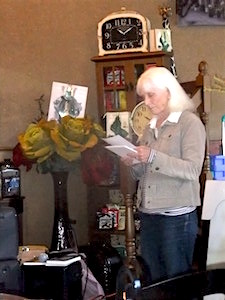 Reading at launch, Dreamer's Cafe