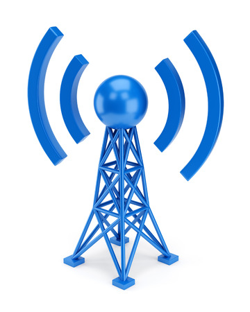 31948784 - abstract radio antenna tower icon isolated on white background. wireless communication technology concept.
