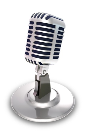 52193162 - professional vocal microphone on white background.