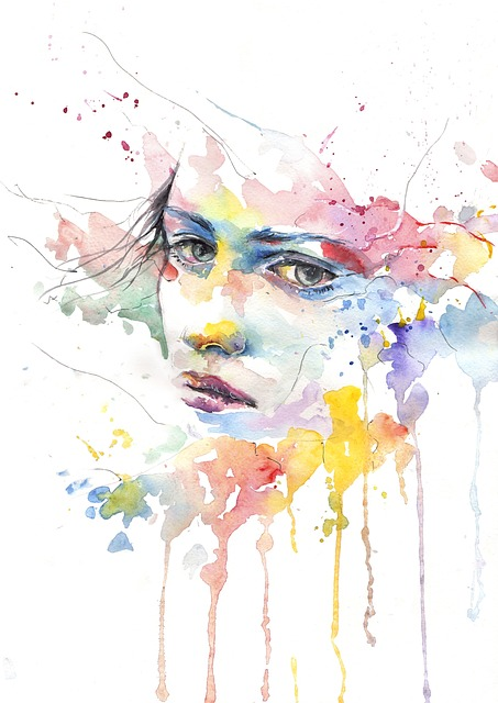 face-in-watercolour