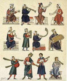 Medieval instruments illumination