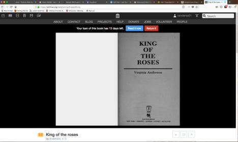 Illegal copy of King of the Roses on Internet Archive