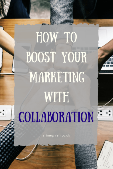 Title Image: How to boost your marketing with collaboration. Image: Hands coming together in a fist-bump over a desk