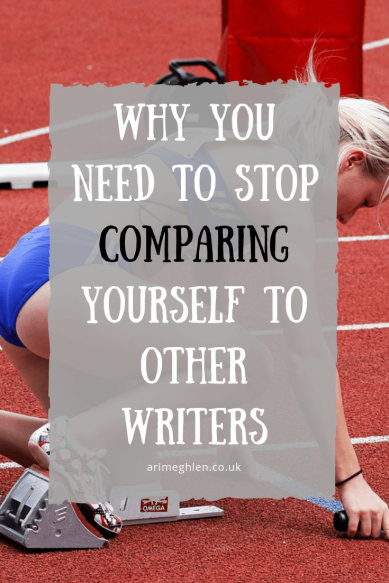 Why you need to stop comparing yourself to other writers, in regards to Marketing. Image: Woman on a starting line.
