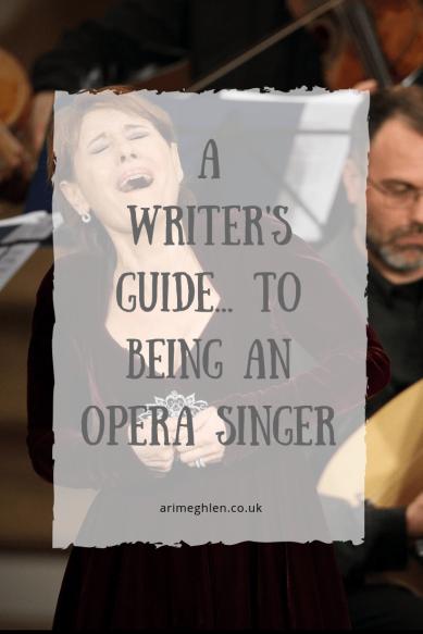 A Writer's Guide to being an Opera Singer. Writer resources. Image: Lady opera singer singing