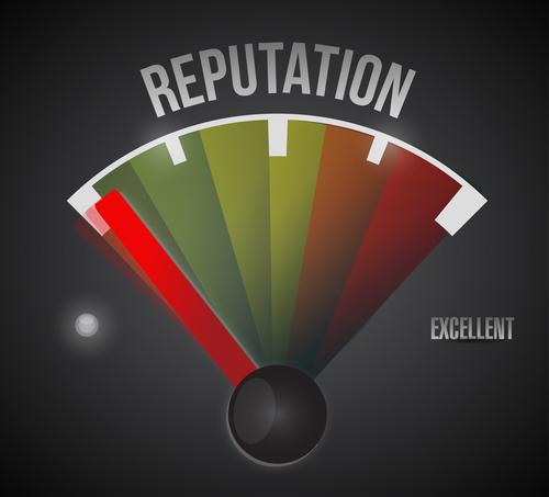 bad reputation speedometer illustration design