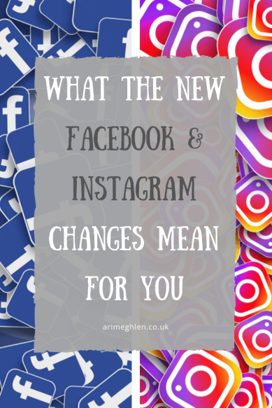 What the new facebook and instagram changes mean for you. Image from Pixabay of Facebook and Instagram icons