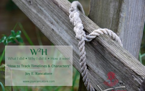 W2H: How to Track Timelines and Characters – by Joy E. Rancatore…