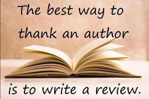 The best way to thank an author, is to write a review.