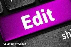 Pink Edit Button